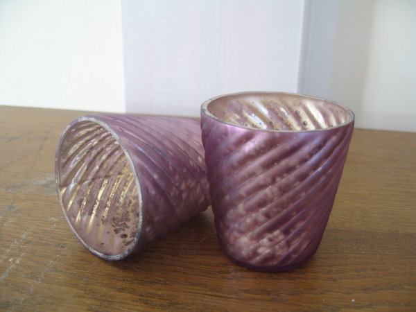Teelichtglas in purple