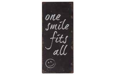 "Metallschild ""One smile fits all"""