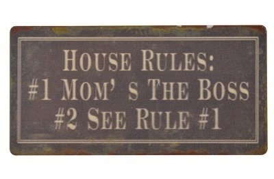 "Magnet ""House rules"""