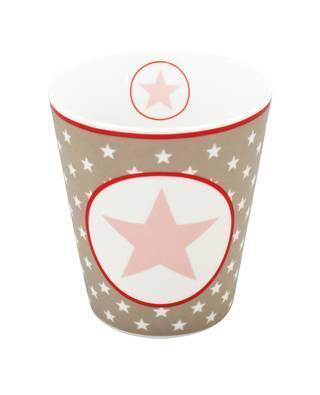 "Happy Mug ""Taupe big star"""