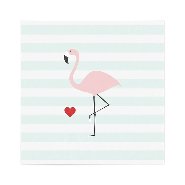 "Serviette ""Flamingo"""