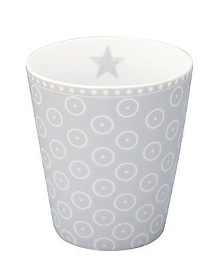 "Happy Mug ""Circle dot grey"""