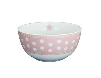 "Happy Bowl ""Dots"" rosa"