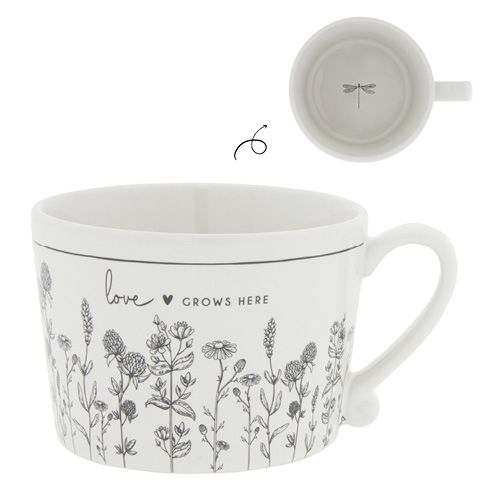 "Tasse ""Love grows here"""