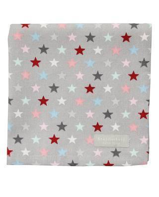 "Stoffserviette ""multi star"" in grau"
