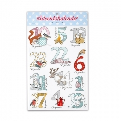 "Adventskalender-Sticker ""Schneetiere"""